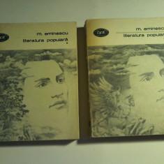 Mihai Eminescu - Literatura populara (2 vo.)