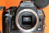 DSLR Canon EOS 350D body + obiectiv Tamron 18-200mm AF - folosite, cu defecte