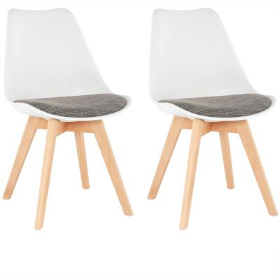 Set 2 buc, scaun, alb maro, DAMARA foto