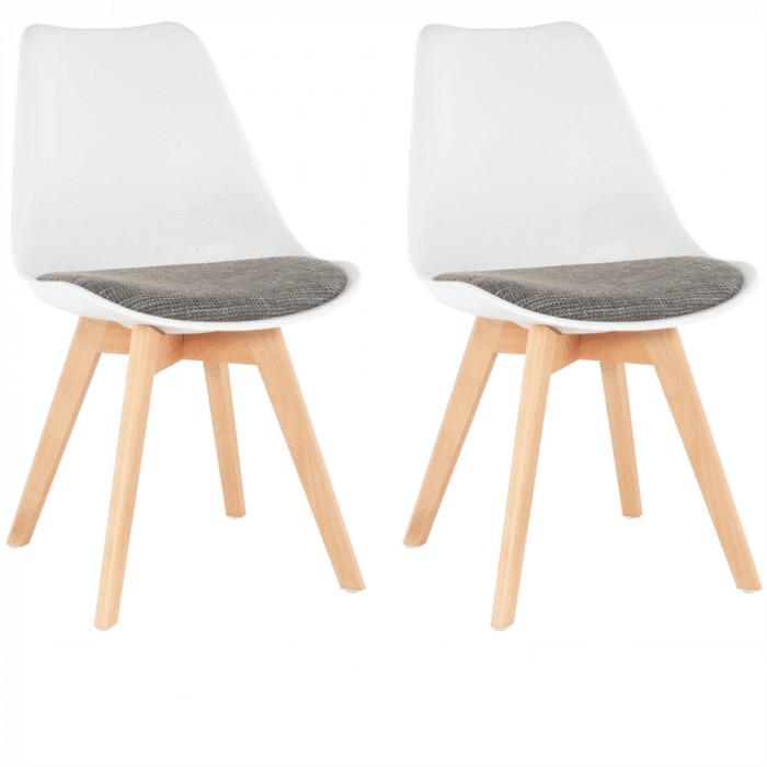 Set 2 buc, scaun, alb maro, DAMARA