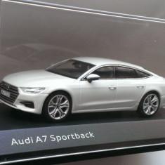 Macheta Audi A7 Sportback (4K8) 2018 alb - iScale 1/43