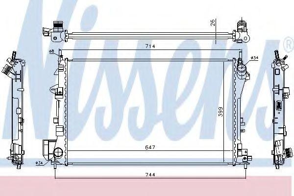 Radiator, racire motor SAAB 9-3 Cabriolet (YS3F) (2003 - 2016) NISSENS 63024A