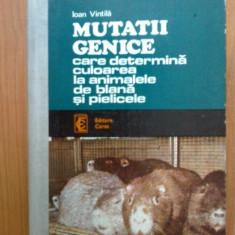 d1d Mutatii genetice care determina culoarea la animalele de blana si pielicele