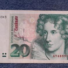 20 Mark 1993 Germania RFG, marci germane