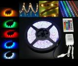 Banda LED RGB 5 Metri ( Calitate Foarte Buna )