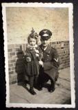 P.111 FOTOGRAFIE RAZBOI WWII MILITAR OFITER GERMAN AVIATIE LUFTWAFFE 9/6cm