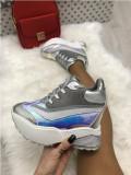 Adidasi dama argintii cu platforma marime  39+CADOU