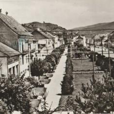 1971 Vedere din Cristuru Secuiesc, cp ilustrata RSR circulata, ARO M461, Gaz IMS, Printata