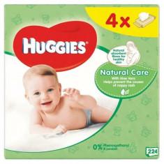 Servetele umede Huggies Natural Care 224 buc