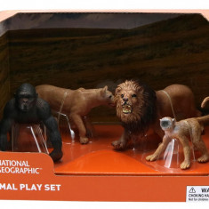 Set 4 figurine - Gorila, Maimuta, Leu si Leoaica NTM02007