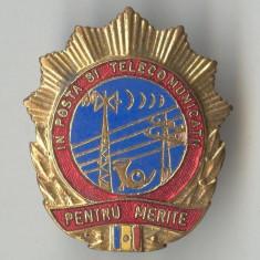 Insigna Pentru MERITE in Posta si TELECOMINICATII - RPR