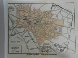 Harta Craiova, 1920, 14x17 cm, scara 1:30.000,