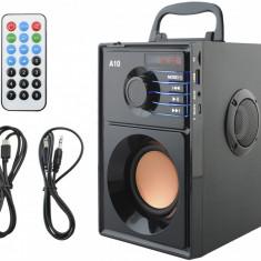 Sistem Audio Portabil Bluetooth cu Subwoofer Incorporat si Radio FM MP3 Player cu Telecomanda