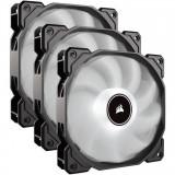 Cooler carcasa AF120 LED Low Noise Cooling Fan, 1500 RPM, Triple Pack - White, Corsair