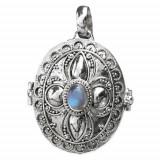 Pandantiv - medalion pentru poza argint cu piatra lunii K118M