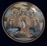Farfurioară portelan japonez Satsuma Moriage