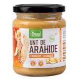 Unt de Arahide Crunchy Bio 250gr Obio Cod: 6426333001349