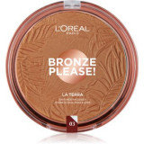 L'Oréal Paris Wake Up & Glow La Terra Bronze Please! bronzer și pudră pentru contur