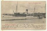 cp Constanta : Vaporul Principessa Maria - circulata, timbru, 1904