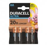 Set 4 baterii Duracell Ultra, tip AA