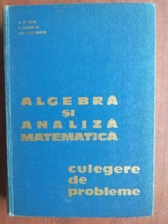 Algebra si analiza matematica culegere de probleme- H. Donciu, D. Flondor