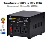 Transformator curent 220V - 110V 300 W Proflex recomandat KitchenAid