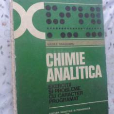 CHIMIE ANALITICA. EXERCITII SI PROBLEME CU CARACTER PROGRAMAT - VASILE MAGEARU