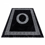 Covor Modern & Geometric Verdis, Negru, 200x290 cm, Decorino