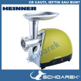 Masina de tocat Heinner 1600 W , cutit de inox, verde sidef >> RESIGILAT