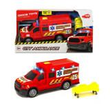 Jucarie Masina Ambulanta cu lumini si sunete City Ambulance 3013038 Dickie