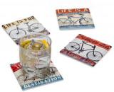 Set 4 suporturi pahare - Vintage Cycles | Balvi