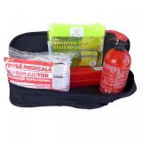 Kit siguranta auto RoGroup – trusa medicala, 2 x triunghi, stingator, vesta +...
