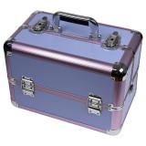 Geanta Produse Cosmetice din Aluminiu, Perfect Organizer, Purple