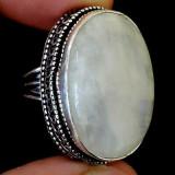 inel argint marime 17mm piatra lunii
