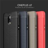 Husa / Bumper Antisoc model PIELE pentru OnePlus 6T / One Plus 6T