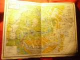 Harta Agronomica a Romaniei Mari- Inst.Cartogr.Unirea Brasov 1923 ,dim.=41x30cm