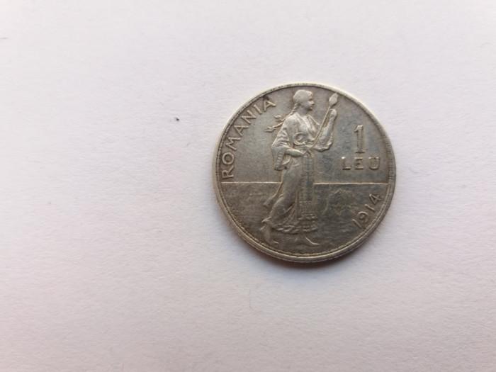 Romania-1 leu 1914-stare buna