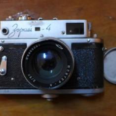 Aparat foto vintage pe film Zorki 4 cu obiectiv Jupiter 8 50 f2