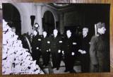 GHEORGHE GHEORGHIU-DEJ SI NICOLAE CEAUSESCU LA INMORMANTAREA LUI NIKITA HRUSCIOV - FOTOGRAFIE ORIGINALA DIN 1964