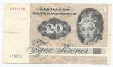 Danemarca 20 Kroner 1979/88 - signatures: Thomasen & Billestrup, P-49