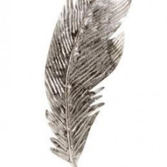 Decoratiune Pana Argintie 41 cm