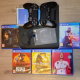 Ps4 PlayStation 4 Slim 1T +2 controllere + 6 jocuri