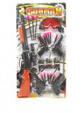 Set arme de jucarie cu pusca si ventuze