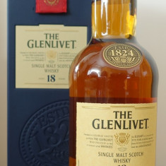 Whisky  { Vechiul Ambalaj)Single Malt GLENLIVET 18 ANI 0.7L 70cl  43%