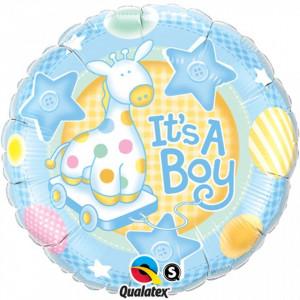 Balon Botez Mini Folie 23 cm Star Baby Boy