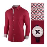 Camasa pentru barbati rosu bumbac regular fit Business Class Ultra