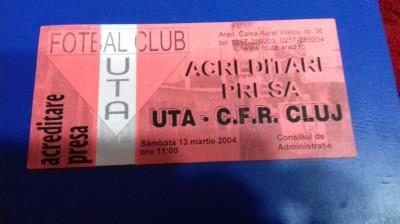 Acreditare  presa   UTA   -  CFR Cluj foto