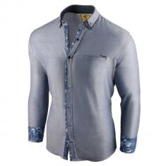 Camasa pentru barbati slim fit albastru deschis casual cu guler sedna brighton