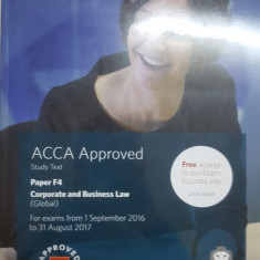 Corporate & Business Law, Study Text, ACCA Aproved, Paper F4, 2016