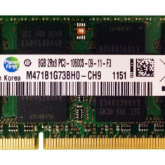 Memorii Laptop Samsung 8GB DDR3 PC3-10600S 1333Mhz 1.5V M471B1G73AH0
